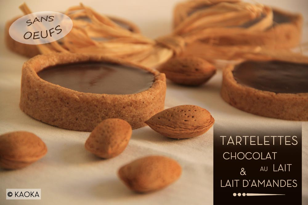 tartelettes chocolat au lait lait d 39 amandes les chocomaniaks. Black Bedroom Furniture Sets. Home Design Ideas