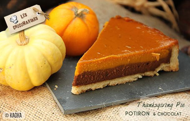 recette thanksgiving pie potiron chocolat