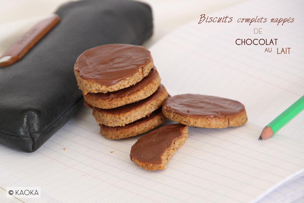 Biscuits Complets Nappes De Chocolat Au Lait Les Chocomaniaks