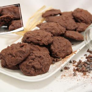 Recette Biscuits extra-fondants double chocolat bio KAOKA