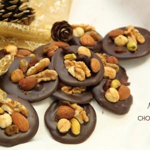 Recette Mendiants chocolat bio fruits secs