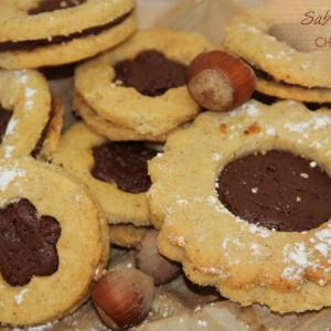 Recettes Sablés fourrés chocolat au lait bio noisettes KAOKA