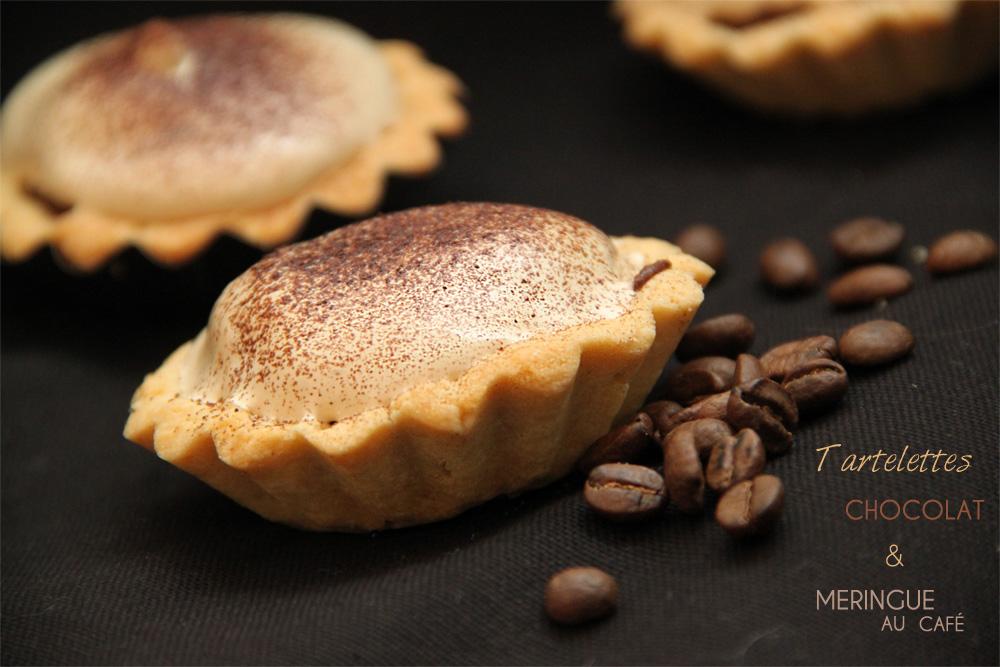 Recette Tartelettes chocolat bio meringue café KAOKA