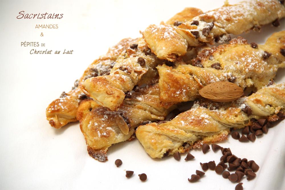 Sacristains amandes pepites de chocolat au lait bio chocomaniaks