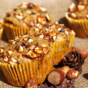 Recette Muffins Pépites de chocolat noisettes caramélisées