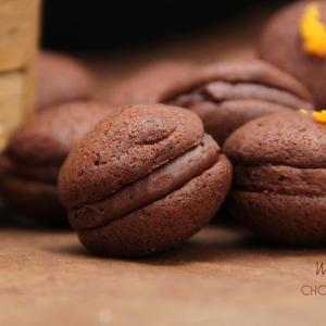 whoopies macarons chocolat orange