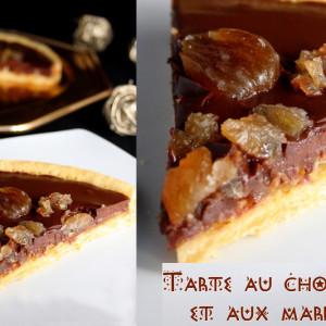 tarte chocolat marrons glacés