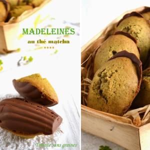 Recettes Madeleines thé matcha chocolat au lait
