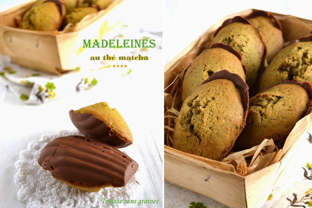 madeleines au th matcha coques en chocolat au lait les chocomaniaks. Black Bedroom Furniture Sets. Home Design Ideas