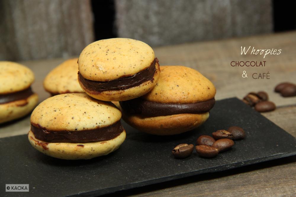 Whoopies biscuit chocolat café