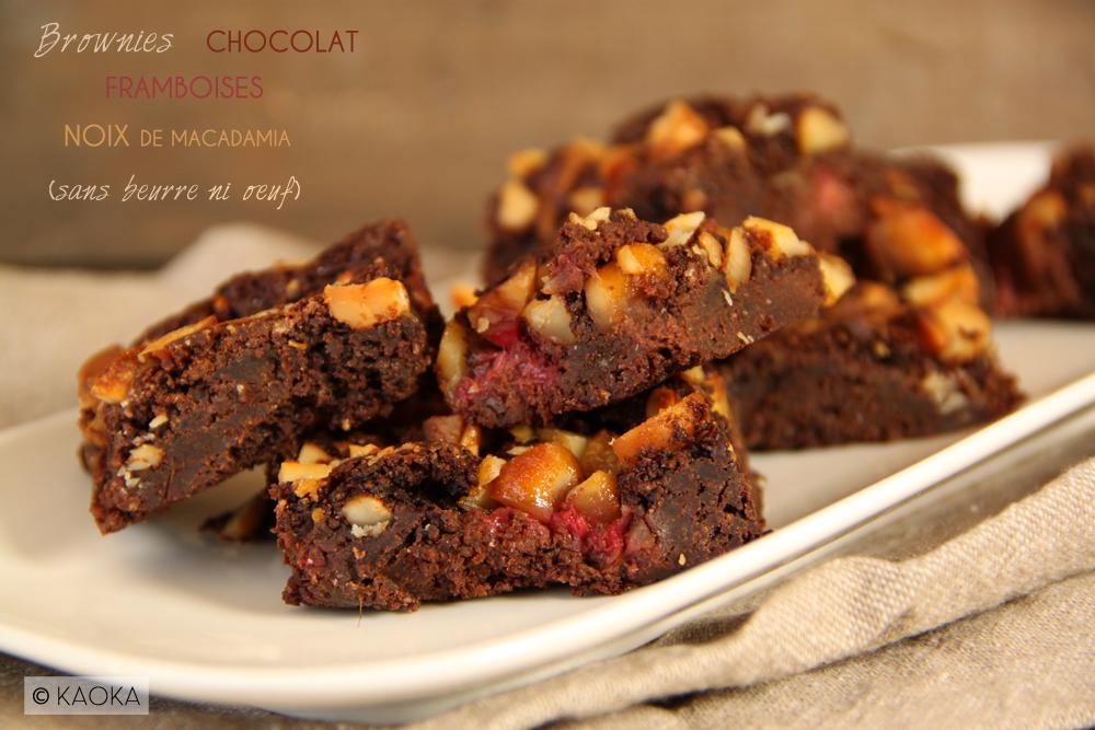 brownies framboises noix de macadamia sans beurre ni oeuf les chocomaniaks. Black Bedroom Furniture Sets. Home Design Ideas