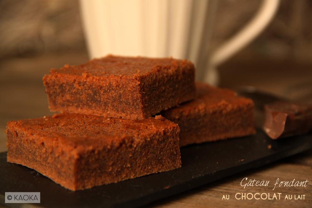 Gateau Fondant Au Chocolat Au Lait Les Chocomaniaks