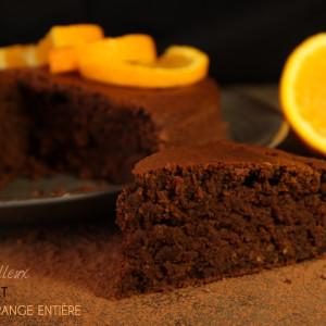 gateau moelleux chocolat orange entiere