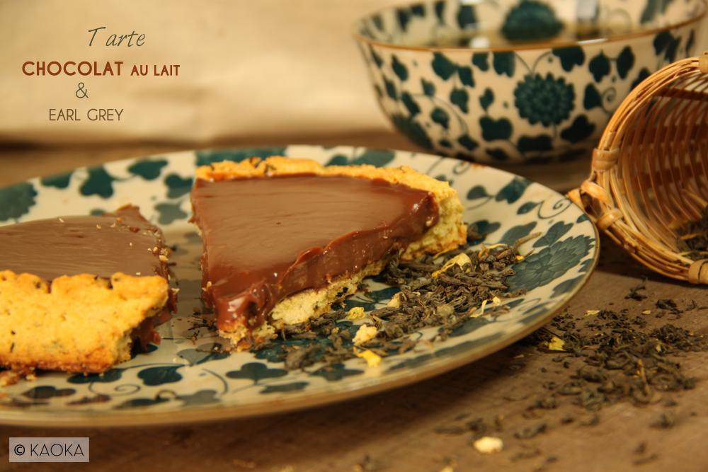 tarte chocolat au lait earl grey les chocomaniaks. Black Bedroom Furniture Sets. Home Design Ideas