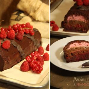 Recette buche chocolat bio framboises