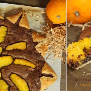 Tarte feuilletée chocolat orange