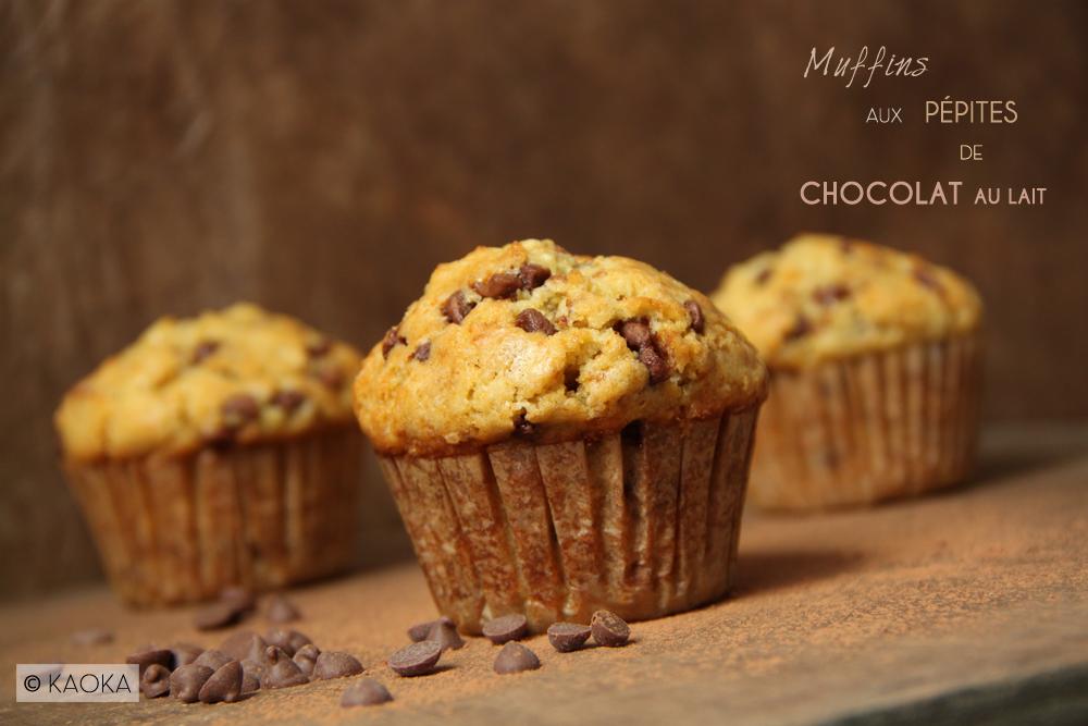 muffins aux p pites de chocolat au lait les chocomaniaks. Black Bedroom Furniture Sets. Home Design Ideas