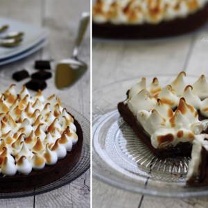 recette tarte chocolat meringue