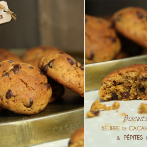 recette biscuits cacahuetes pepites