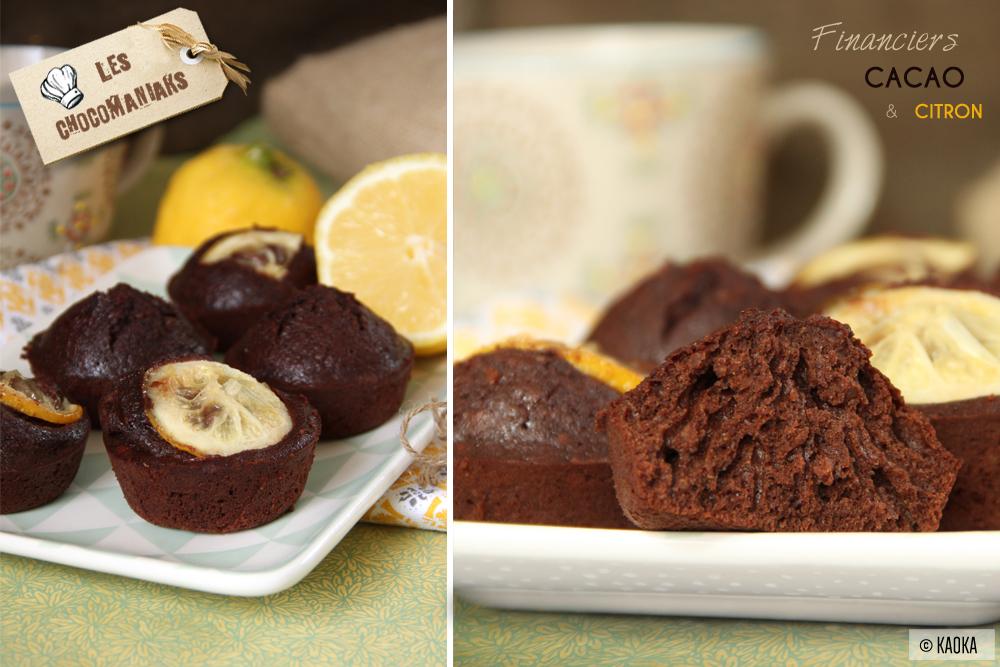 recette financiers chocolat cacao citron