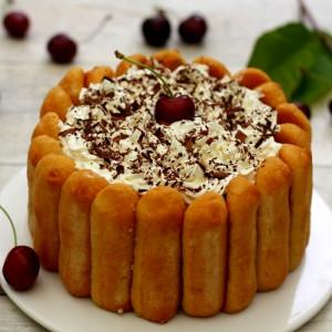 recette charlotte chocolat cerises chantilly
