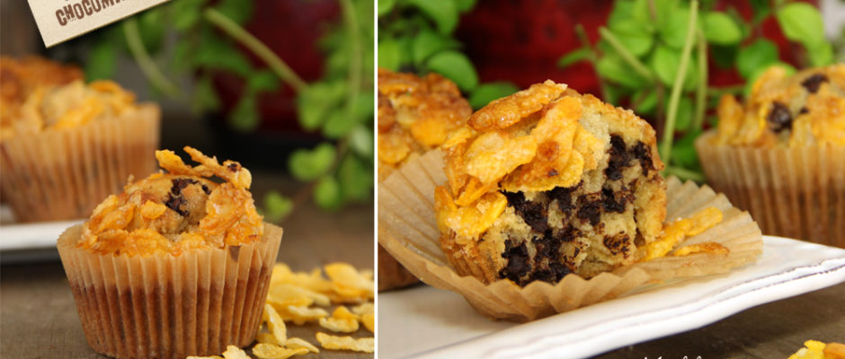 muffins cornflakes pepites chocolat
