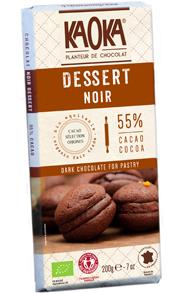Tablette DESSERT Chocolat Noir 55% cacao bio