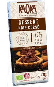 Tablette Chocolat Noir Corsé DESSERT 70% cacao bio equitable