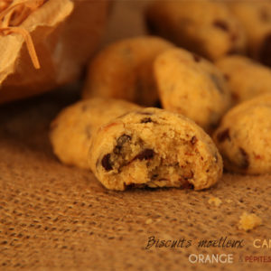 recette biscuits cannelle orange pepites chocolat