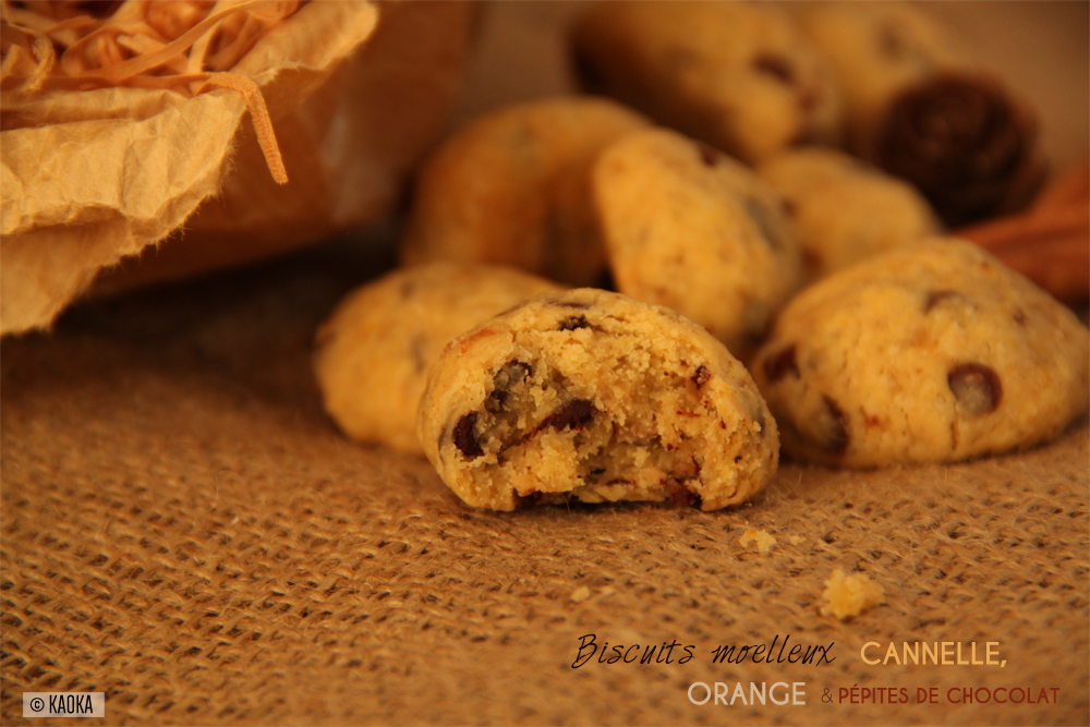 recette biscuits cannelle orange pepites chocolat