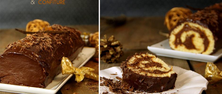 recette buche noel chocolat confiture