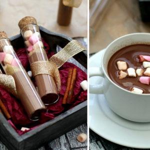chocolat chaud en tube cadeau Noel