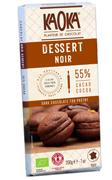 Tablette DESSERT Chocolat Noir 55% cacao KAOKA