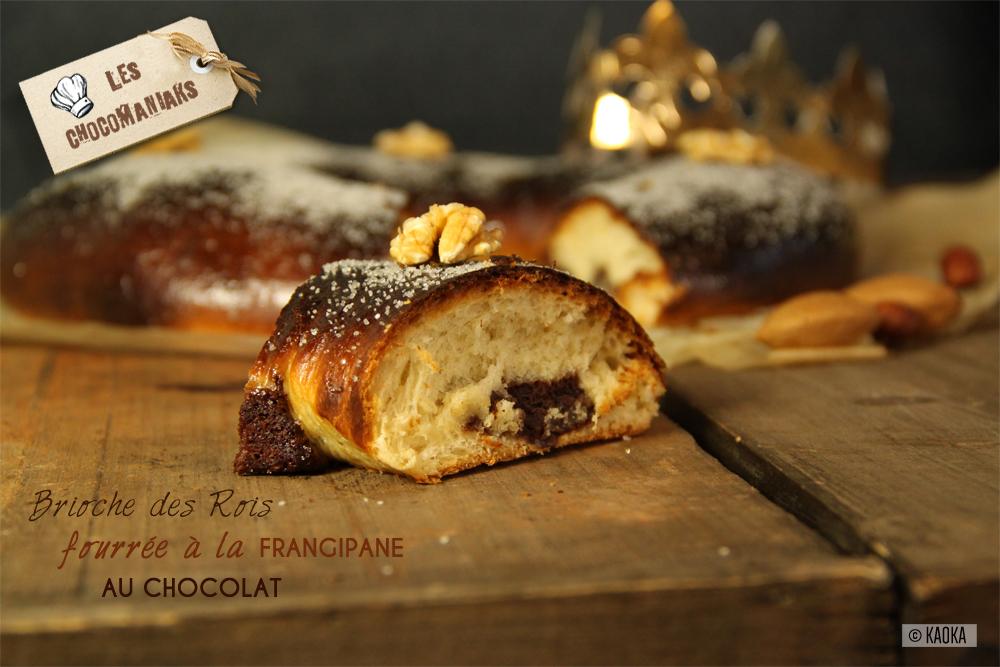brioche rois fourrage frangipane chocolat bio