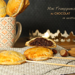 recette mini frangipane chocolat sucette