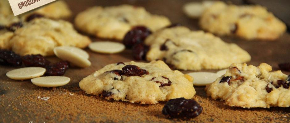 recette cookies cranberries chocolat blanc