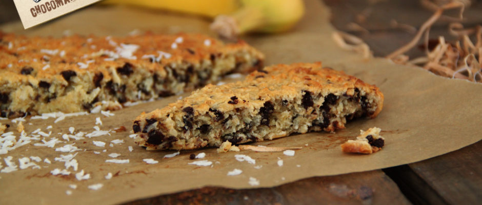 recette cookie banane coco pepites chocolat