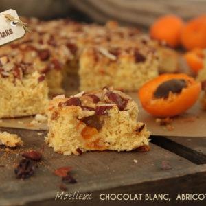 moelleux chocolat blanc abricots amandes