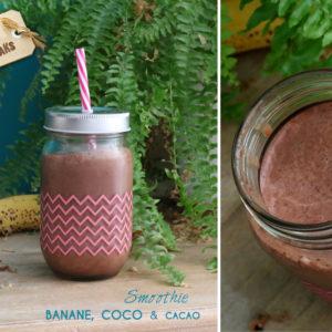 smoothie chocolat vegan banane coco cacao