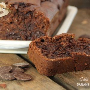 Cake moelleux banane chocolat