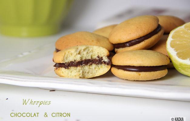 recette whoopies chocolat citron
