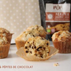 recette muffins poires pepites chocolat