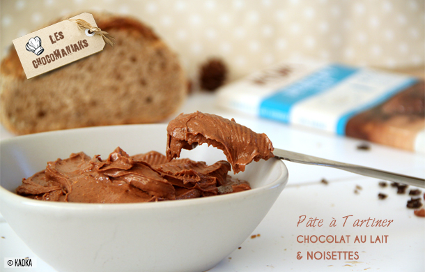 pate tartiner chocolat noisettes