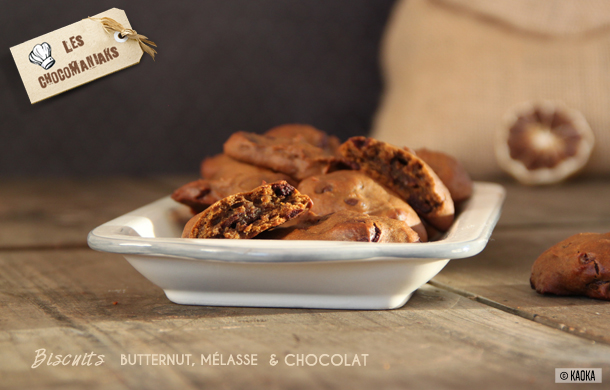 recette biscuits butternut melasse chocolat