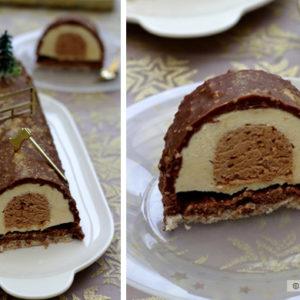 recette buche praline noisettes chocolat blanc