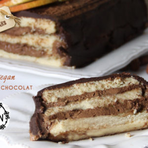 recette buche vegan poires chocolat