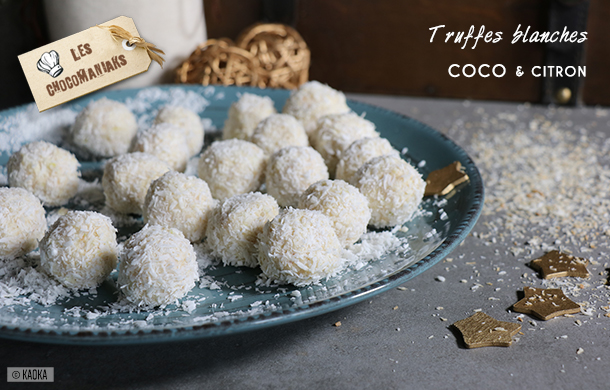 recette truffes blanches coco citron