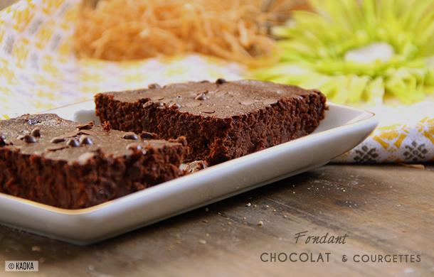 fondant chocolat courgette bio