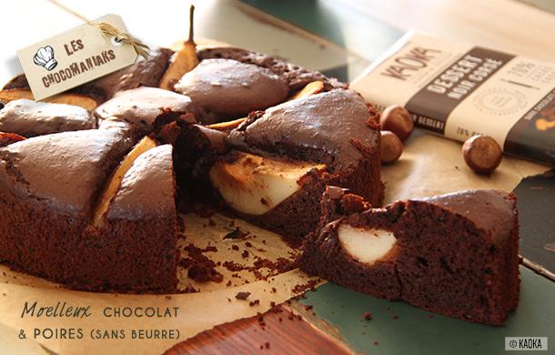 Moelleux Chocolat Poires sans beurre