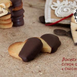 biscuits vegan citron gigembre chocolat